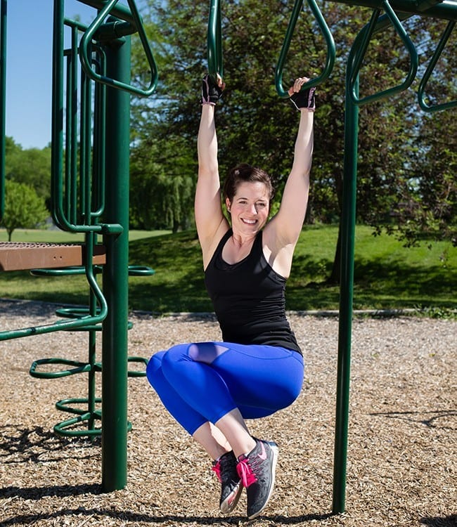 Alternating-curb-taps Get outside and try this workout today! exercise fitness leducphysio muscles outdoors outside physiotherapy play playground strong workout