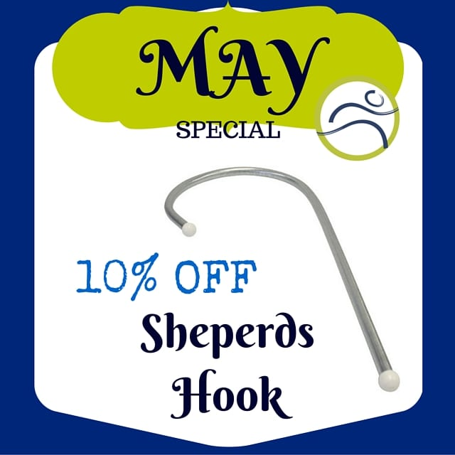Monthly-Specials May Special is a Sheperds Hook! massage muscle release myofascial release pain self-massage sheperds hook sore back sore muscles