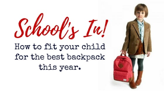 Blog-Titles Schools in! How to fit your child for the best backpack this year. back backpack best child children education fit how to kids pack pain physiotherapy rucksack school sore sore shoulders