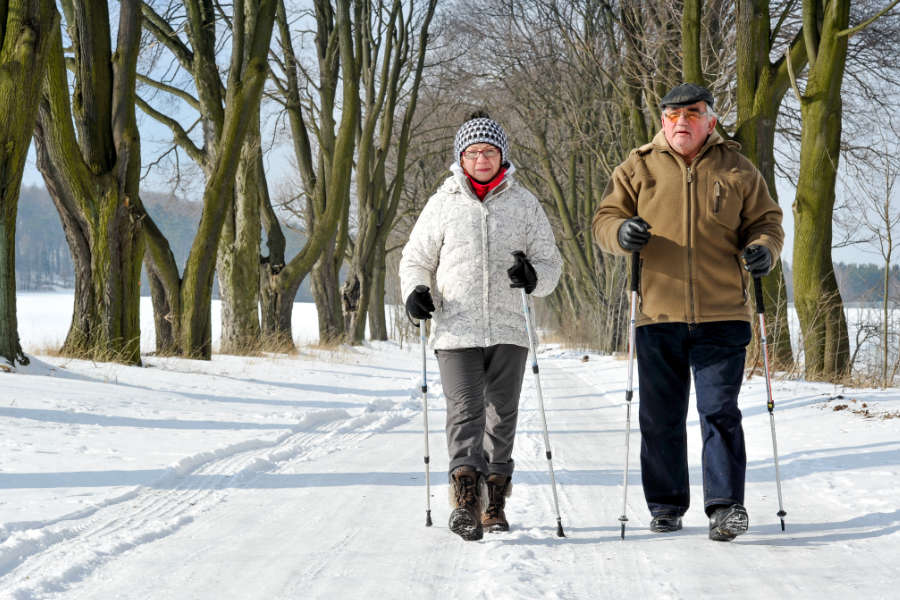 Balance-Outdoors 3 Easy Home Exercises to Improve Your Balance and Help Prevent Falls This Winter fall prevention kinesiology Leduc leducphysio PREVENTION sports winter
