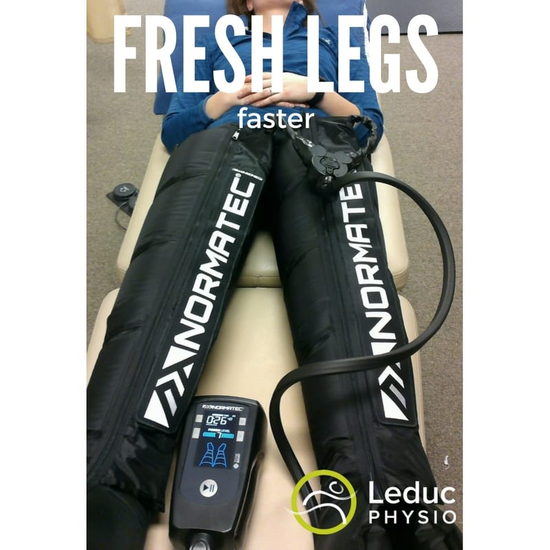 "FRESH-LEGS Want to know the pro's ""secret"" recovery weapon? athletes Crossfit crossfit recovery edmonton endurance recovery Leduc marathon training normatec physiotherapy recovery triathalon training"