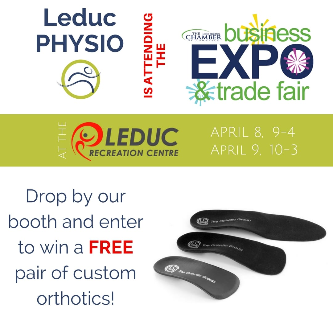 2017-Business-Expo-Contest Free Custom Orthotics! business chamber of commerce compression contest exercise feet foot free heel Leduc legs muscles normatec orthotic orthotics physio physiotherapist physiotherapy sore