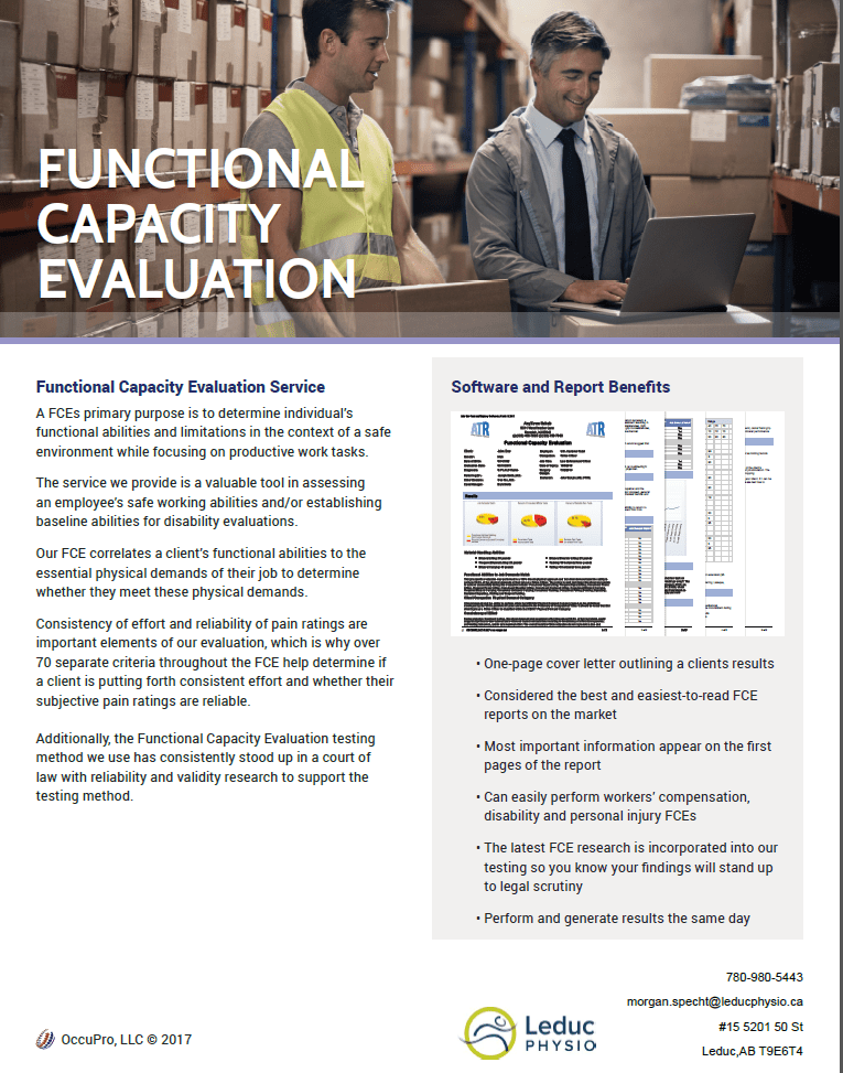 Functional-Capacity-Evaluations FUNCTIONAL CAPACITY EVALUATIONS
