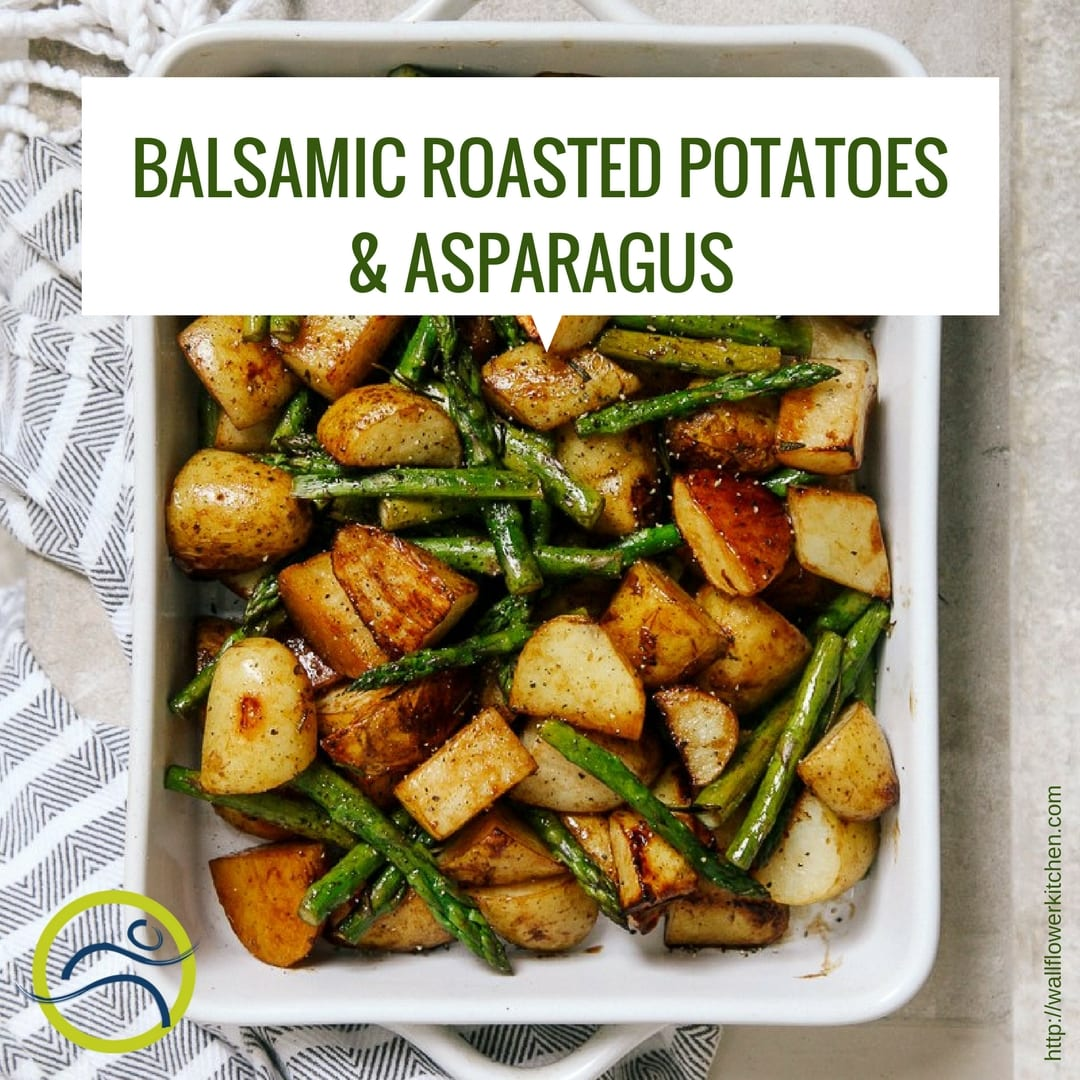 Fun-Fact-Friday-3 Roasted Asparagus with Balsamic New Potatoes asparagus balsamic dinner eat food healthy healthy choice recipe roasted potatoes side dish summer