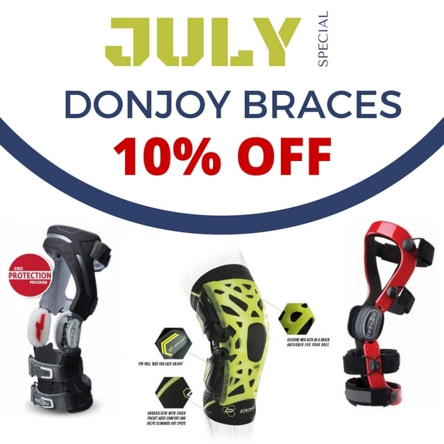 July-DonJoy-Braces DonJoy Braces are 10% Off! ACL active ankle ankle brace arthritis Brace bracing cartilage custom daily living DonJoy elbow elbow brace injury knee knee brace LCL Meniscus movement osteoarthritis pain managment PCL PREVENTION rigid sports support wrist wrist brace