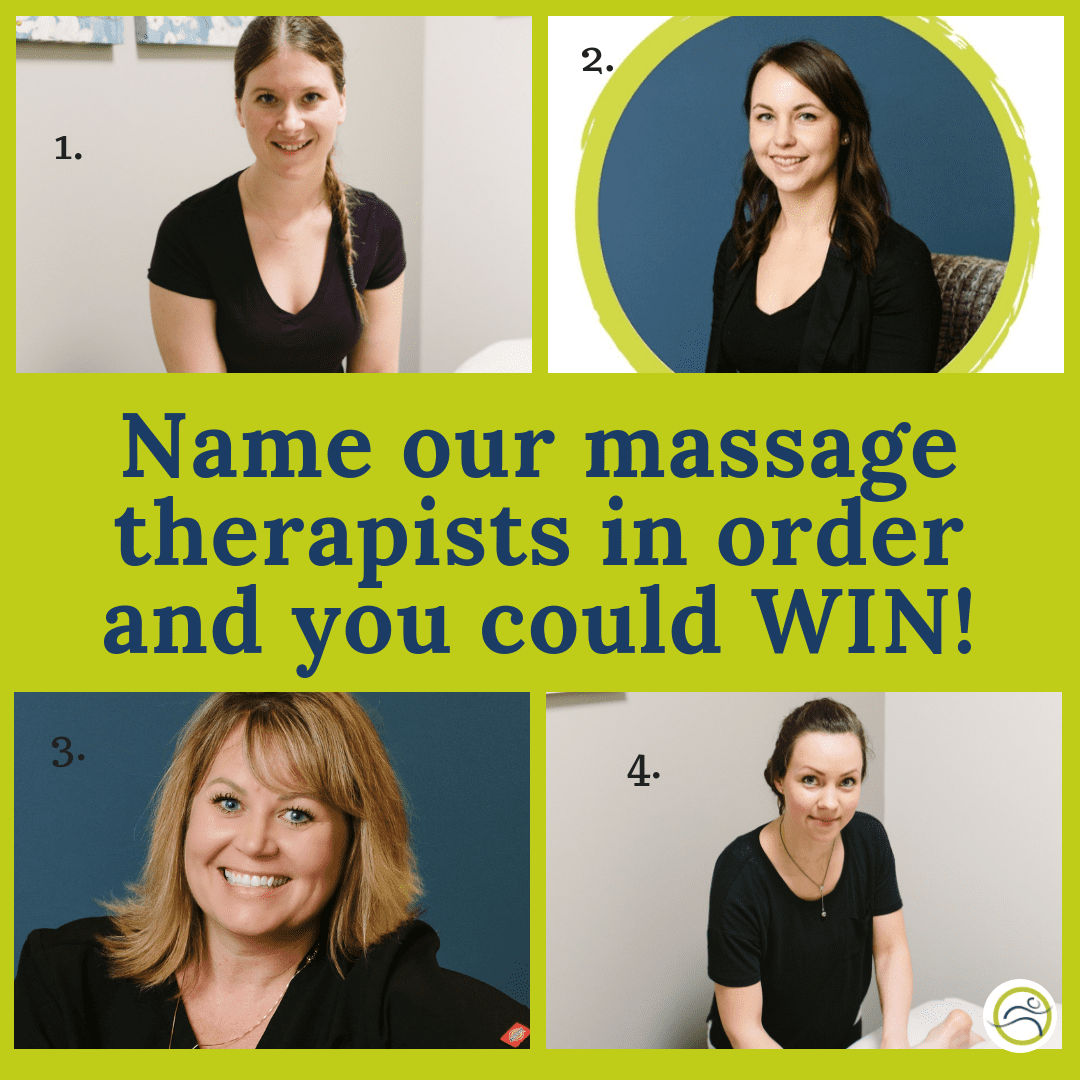 Buy-1Get-1-2 Name our massage therapists in order and WIN!! alberta contest Leduc leducphysio massage therapy massgae win yeg