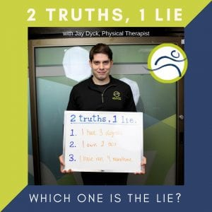 Stephanie-2 Stephanie Lied! 2 truths 1 lie fun leduc physio staff Stephanie Devries