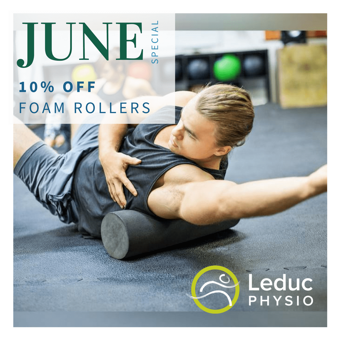 June_Foam_Roller_2 Foam Rollers are 10% for the month of June at Leduc Physio