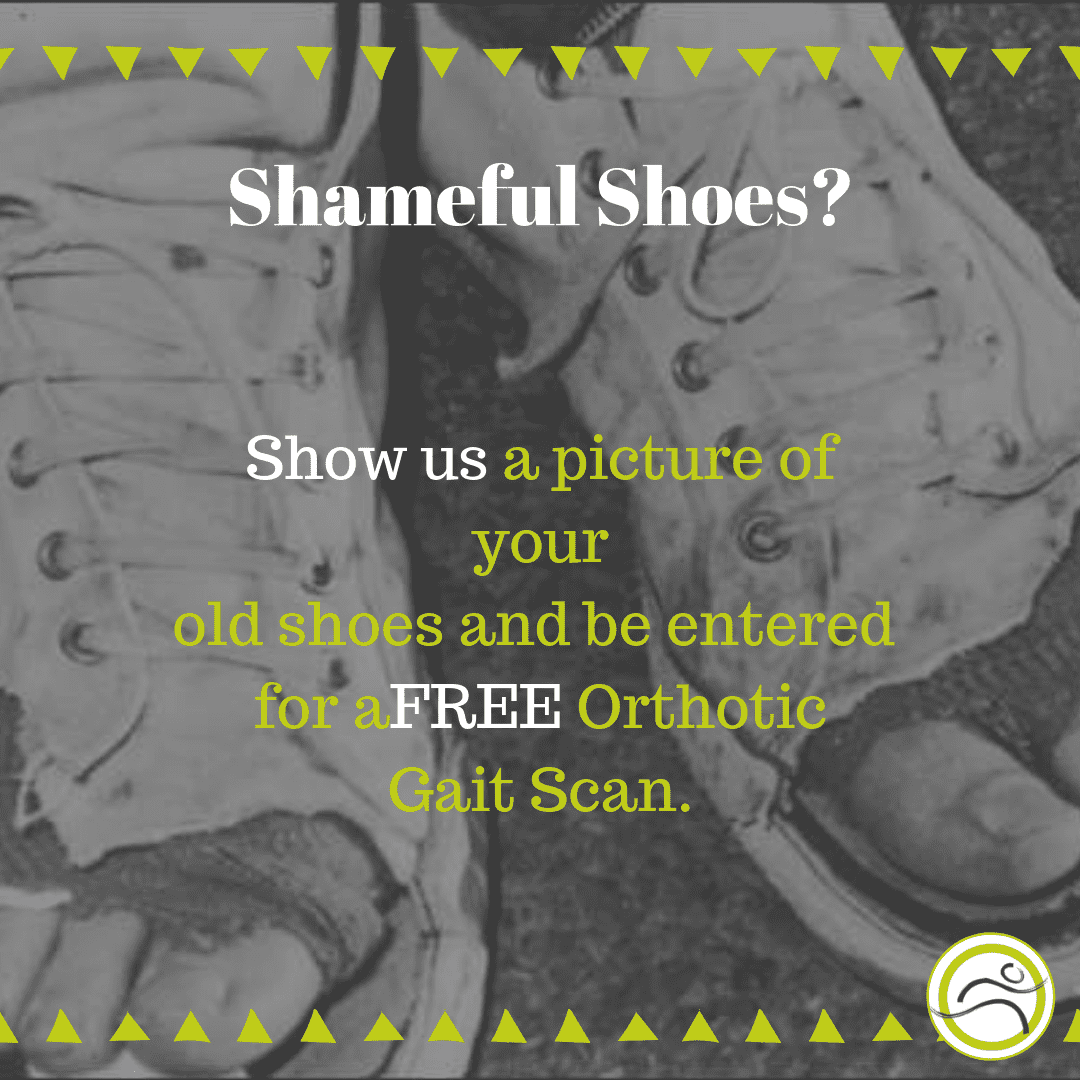 September-Contest Shameful Shoes? Show us a Picture and WIN foot pain leducphysio orthotics runners running shoes